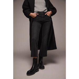 Zara Bootcut Mid Rise Jeans In Victoria Black 4